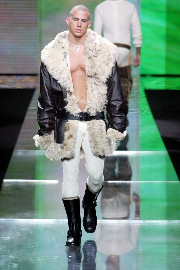 channing tatum diddy fashion show crazy outfit