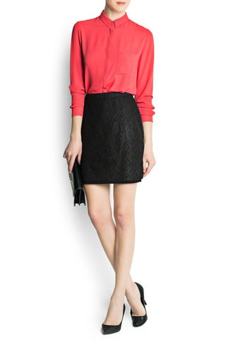Pencil-Skirt_Soften-With-A-Silk-Blouse_Mangosilde