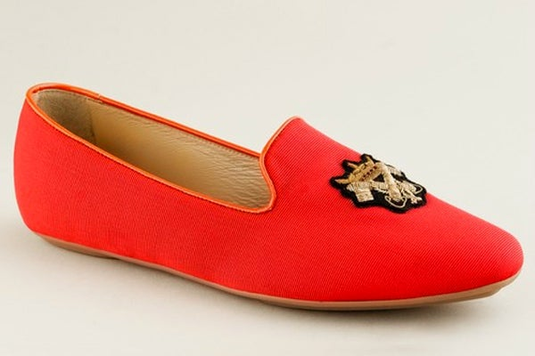 J.Crew Darby Silk Loafers
