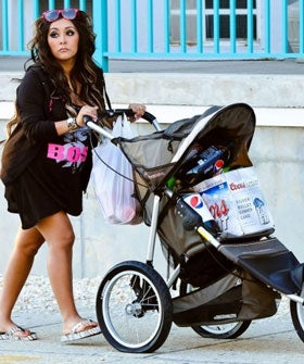 Snooki  Baby on Snooki Had Her Baby    Oh Wait  No  That S Coors Light