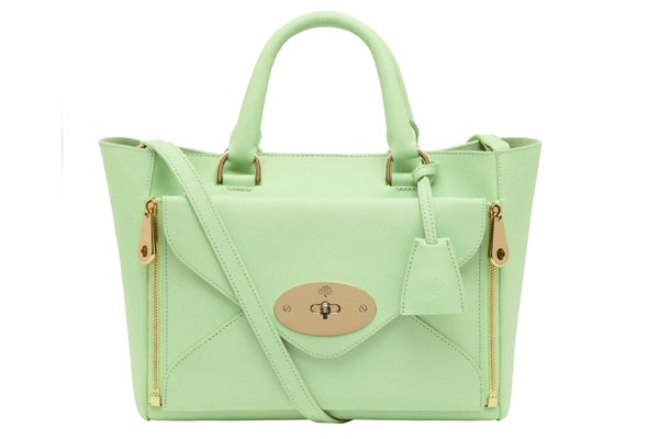 Small Willow Tote Classic Calf Mint