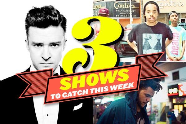 Justin Timberlake, Angel Olsen, & More Shows To Catch This Week