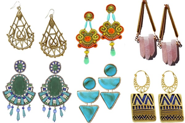 earrings collage