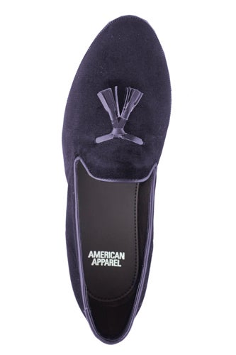 American Apparel Velvet Tassel Loafers