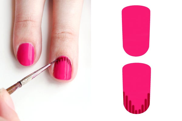 girly-nail-art-ikat-2