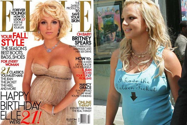 Britney Spears Elle magazine cover shoot