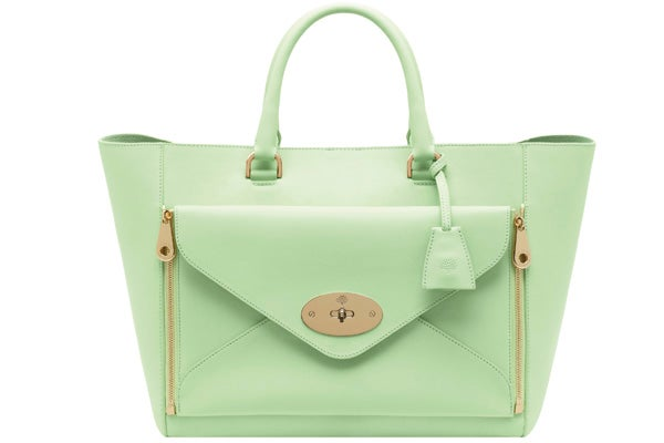 Willow Tote Classic Calf Mint