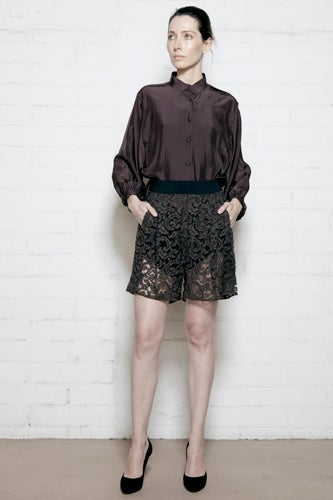 Burnt Plum Lace Short 1