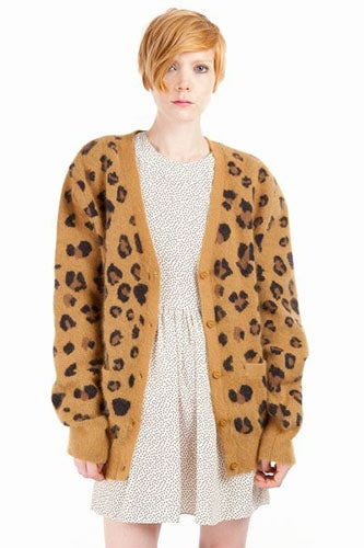 Chloe Sevigny For Opening Ceremony Leopard Cardigan_$370_Opening Ceremony