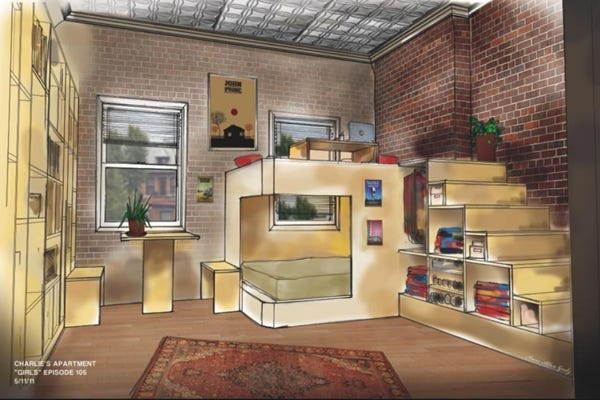 girls apartments hbo new york small space living