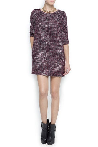 "Mango,-""Bouclé-Straight-Dress"",-Mango,-$79"