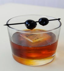 fnal-Smoked Black Manhattan