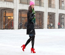 How To Wear Heels To NYFW In A Blizzard