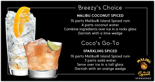The Malibu Coconut Spiced is breezy, but with a bit of spice — like me