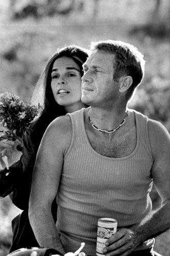 Star Crossed Movie Couples - Best Film Romances  Ali Macgraw And Steve Mcqueen