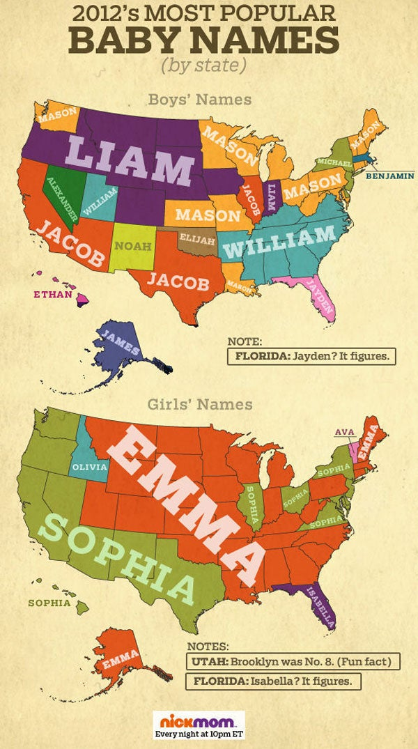 If You Know A Baby Named Jacob Are More Likely To Live California Just Had Girl Emma Might Well Anywhere In The US