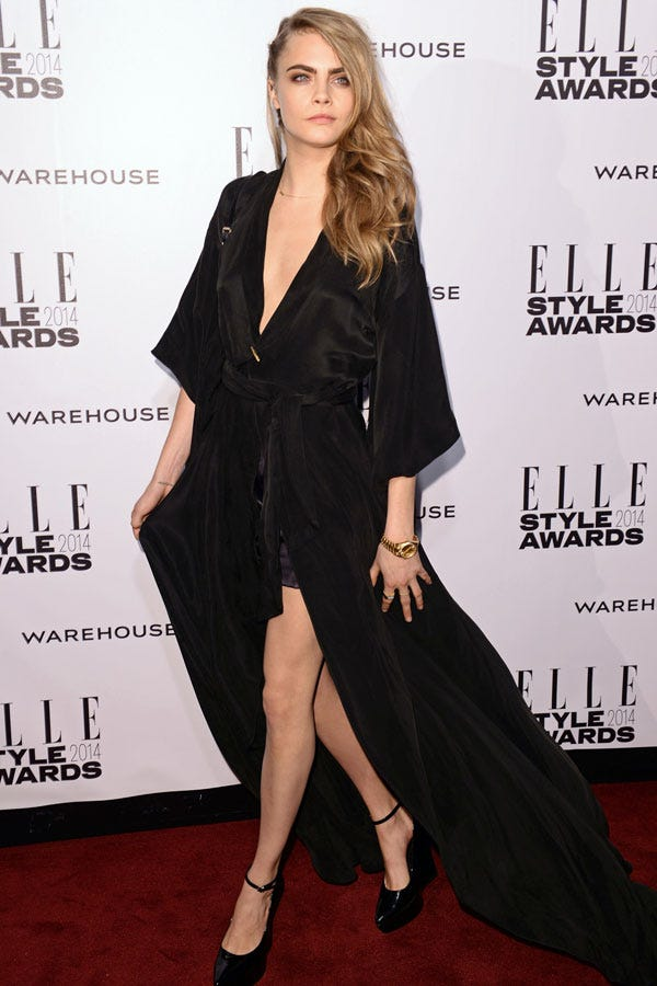 Cara Delevingne's Red-Carpet Look (Literally) Packs A Surprise