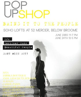 Bring It To The People Pop Up Shop