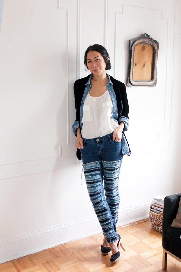 denim style stephanie tran 39 s jeans looks. Black Bedroom Furniture Sets. Home Design Ideas