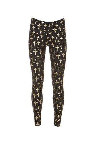 gold-black-cross-leggings