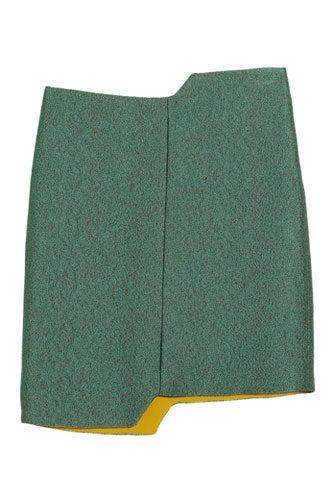 Chayalan Step Cutout Woven Mini Skirt