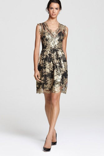 Madison-Marcus_V-Neck-Lace-Dress_328_Bloomingdale's