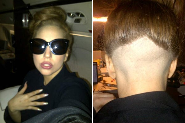 Lady Gaga Shaved Head