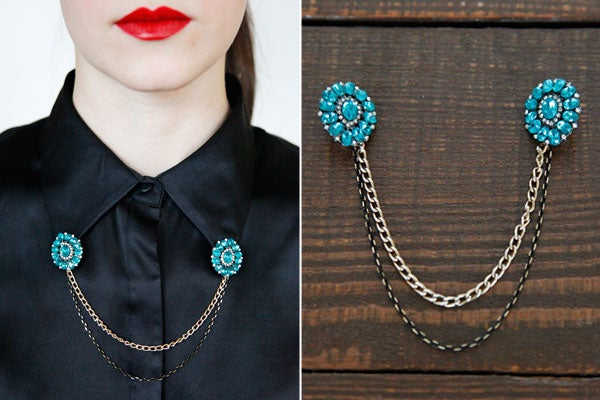 Bejeweled Sweater Clip