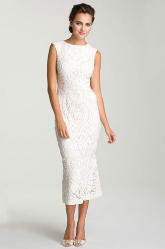 Soutache Overlay Gown