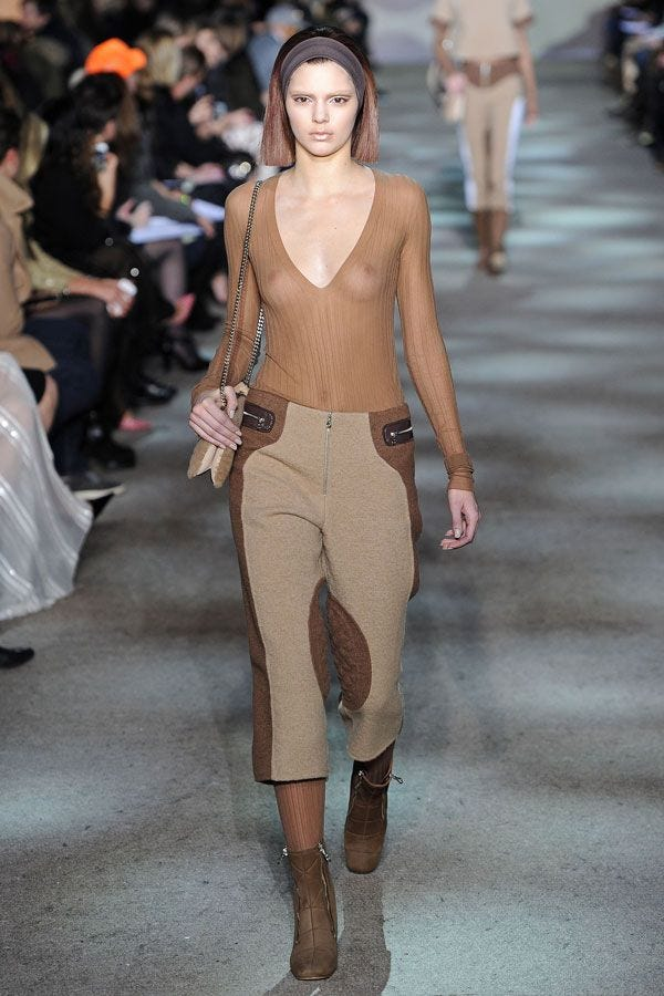 Kendall Jenner Sheer Top Braless Pics Marc Jacobs