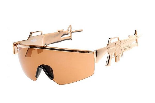 f5f7cfb298ff Linda Farrow x Jeremy Scott Sunglasses - Gun Shades
