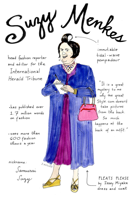 Suzy Menkes — fashion reporter