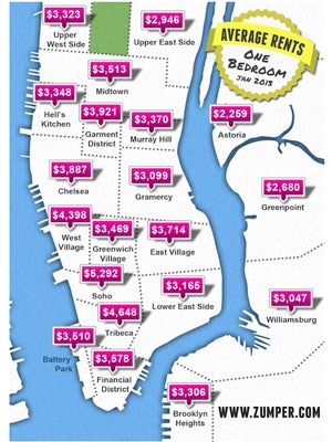 Tremendous Nyc Rent Average Price For One Bedroom Apartments Home Interior And Landscaping Mentranervesignezvosmurscom
