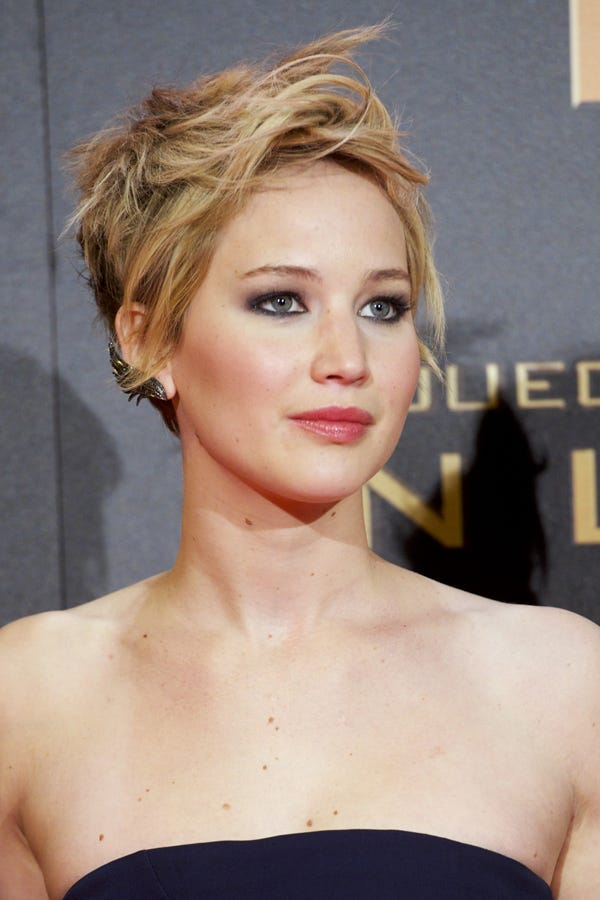 Jennifer Lawrence Short Haircut Hunger Games Premiere