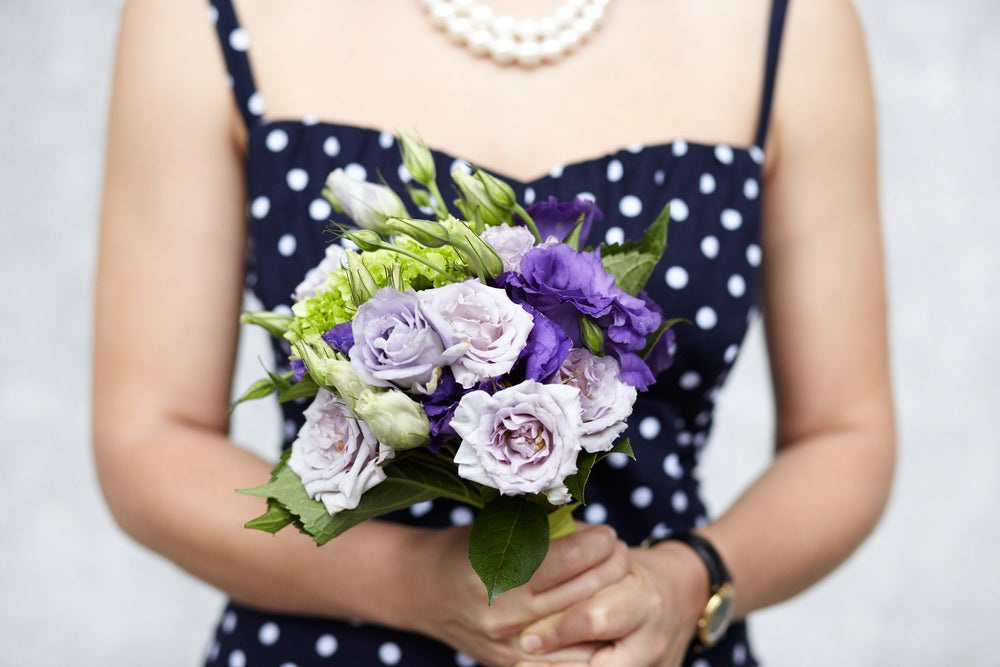 A mix of lavenders, purples, and violets.