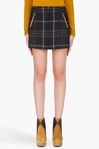 Thakoon Addition Plaid Mini Skirt