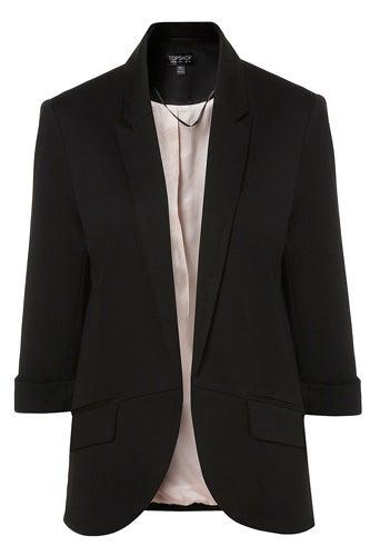 Topshop Ponte Rolled Sleeve Blazer