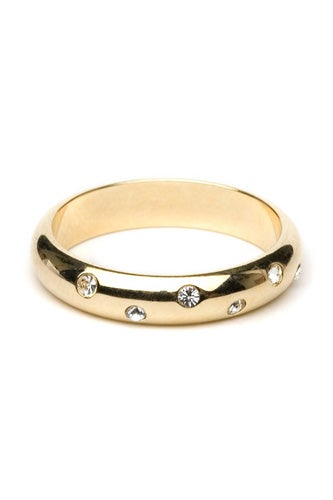 Bauble Bar Gold Crystal Stud Ring
