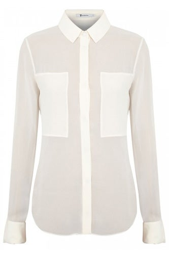 T by Alexander Wang Silk Georgette Blouse