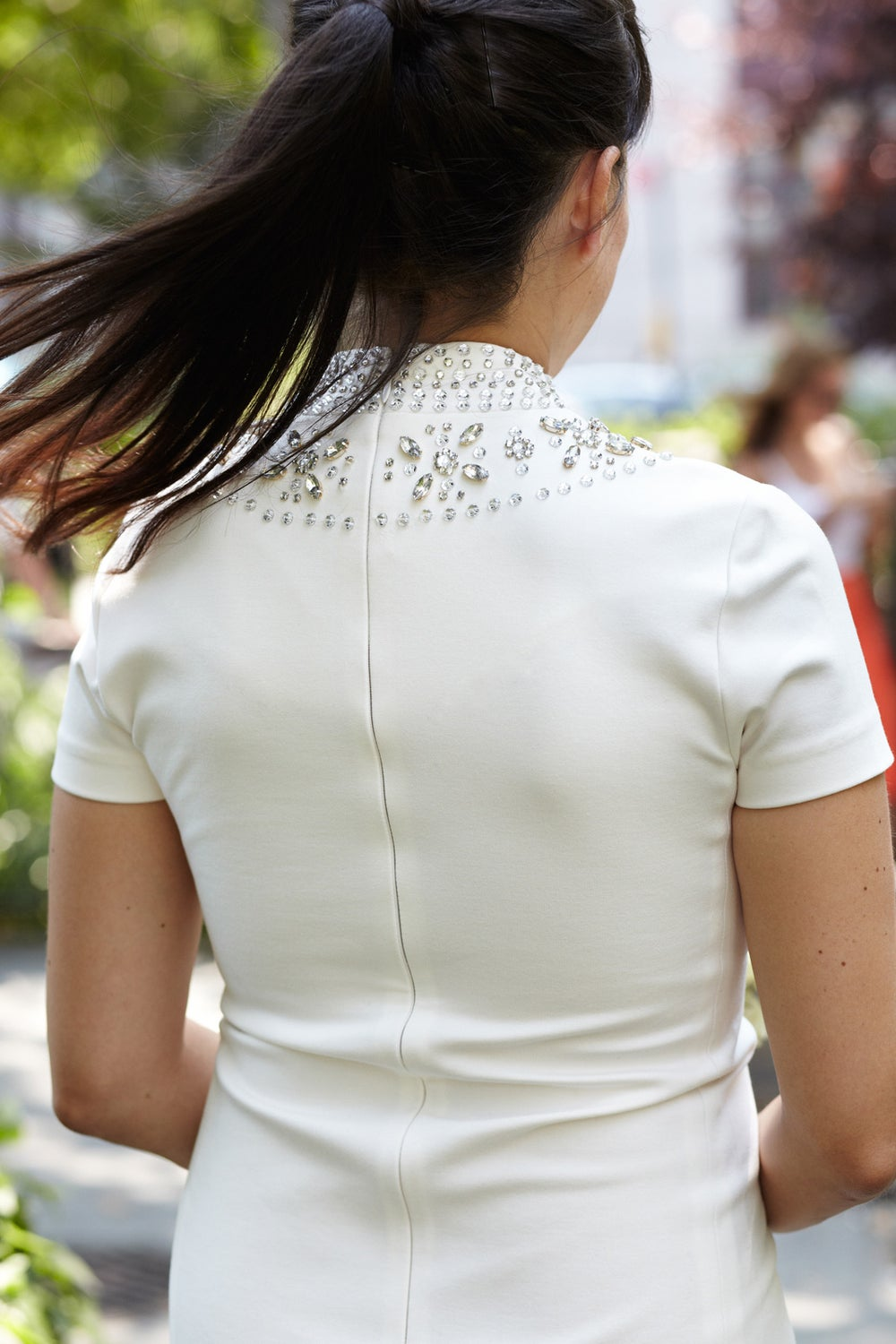 ...in addition to the sparkles on the back of her dress...
