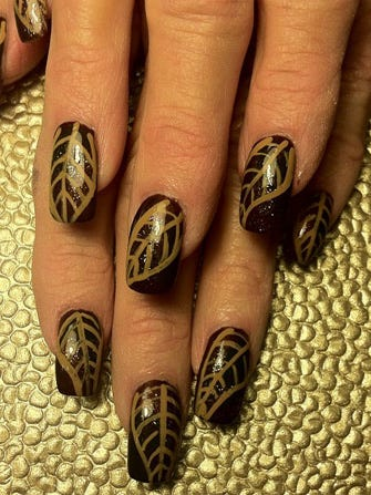 Thanksgiving Manicures Turkey Nail Art Designs