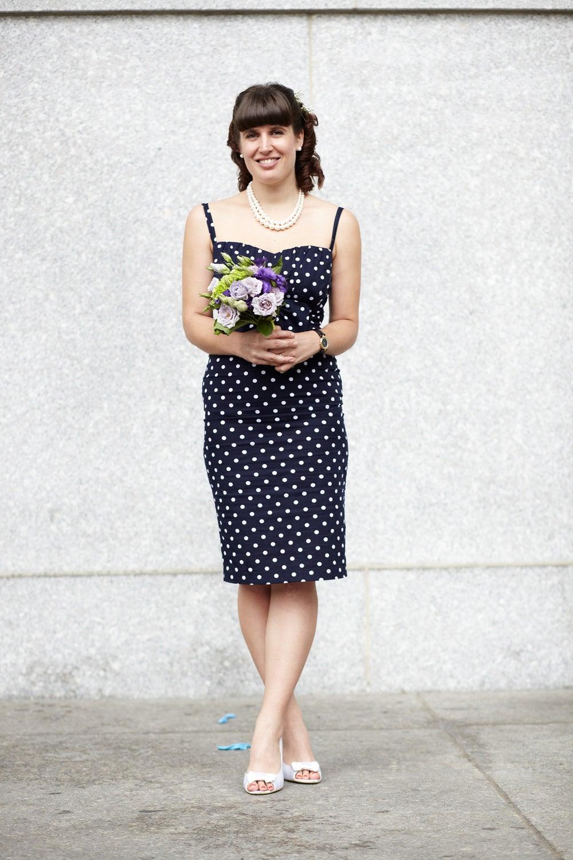Server Stefania Franja's polka-dot dress is so sweet!
