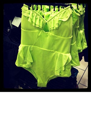 lime green H&m swimsuit